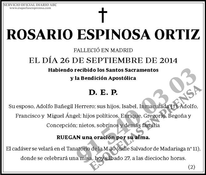 Rosario Espinosa Ortiz